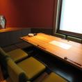 京町家を思わせる趣ある店内は全室掘り炬燵個室です。落ち着いた店内でゆっくりお食事をお愉しみください。