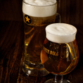ビール199円(税抜)!「ただ美味しいだけでなく毎日でも通って頂ける気軽なお店でありたい。」そんな博多満月の199円(税抜)ビールはサッポロビール。心もお財布も満足な美味しいビールです♪博多料理もどんどんすすむ!中瓶は黒ラベル、アサヒスーパードライともに460円(税抜)、その他変わったウイスキーや日本酒、焼酎も!