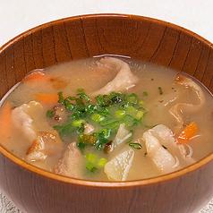 京風白味噌の豚汁