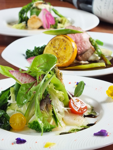 旬の道産食材と高級食材を気軽に楽しめる【新洋食コース】6品3240円
