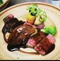 料理メニュー写真群馬県産上州牛希少部位イチボとフォアグラのグリエ ロッシーニ風
