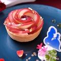 料理メニュー写真桃の薔薇タルト