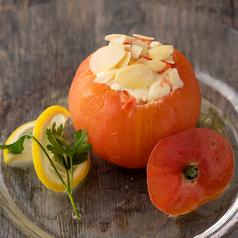 丸ごとトマトとクリームチーズのカプレーゼ