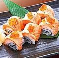 料理メニュー写真サーモンの炙り棒寿司