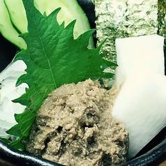 ずわい蟹みそ(山芋海苔付)