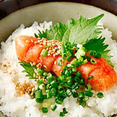 料理メニュー写真一本明太子ご飯
