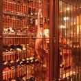 温度管理されたワインと日本酒のセラー