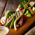 料理メニュー写真畑の野菜グリル ~炭塩/からすみ風EGG/バーニャカウダソース~