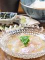 料理メニュー写真鯛のゴマダレ だし茶漬け