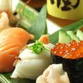 新鮮な魚介を、心を込めて握ったお寿司♪
