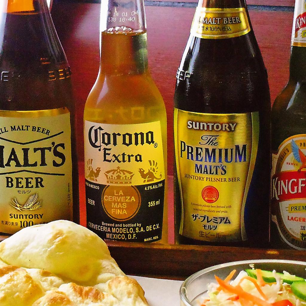 《食事とご一緒に◎》インドカレーに良く合うビールやさっぱりとしたラッシー各種を取り揃えてます!