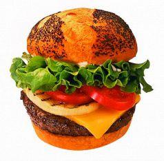 料理メニュー写真チーズバーガー