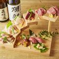 料理メニュー写真豪快!肉刺し6段盛り