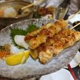 全国から取り寄せた食材と逸品料理、串焼きメニューが豊富です。