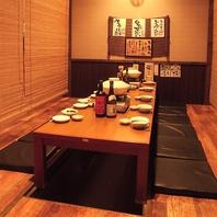 個室のプライベート空間でお食事できる琴似の居酒屋