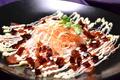 料理メニュー写真サーモンのカルパッチョ ジュレソース&マヨネーズ