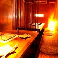 間接照明の掘りごたつ個室☆少人数から18名までOK♪