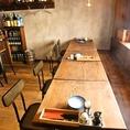 テーブル席は最大10名様まで利用可能