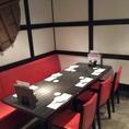 テーブル席はつなげて使うと6名席にも!お食事はもちろん!宴会にもご利用いただけます!