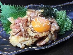 地鶏タタキユッケ風