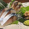 料理メニュー写真北釧鯖 〆サバ三種盛