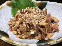 地鶏タタキ柚子胡椒和え