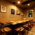 周りを気にせずお食事と会話をお楽しみ頂ける、完全個室の空間でプライベートなご宴会をお楽しみください。