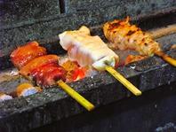 串には広島県の地鶏を使用!炭火使用!