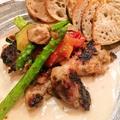 料理メニュー写真もも肉の香草パン粉焼き