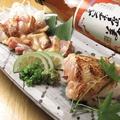料理メニュー写真朝倉産古処鶏のタタキ