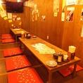 大きめのテレビも設置!お座席個室!浦和の焼き鳥居酒屋でゆっくり飲み放題がおすすめ!掘りごたつ・座敷・個室もご用意できます。