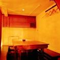 1階奥のテーブル席は、半個室としてご利用いただけます。※4~10名までOK。
