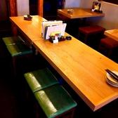【8名様】まで着席可能なテーブル席。合コンや女子会にも最適◎