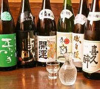 静岡の地酒をしっかりとご用意♪