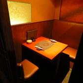 2名様用の個室テーブルが3室ございます。