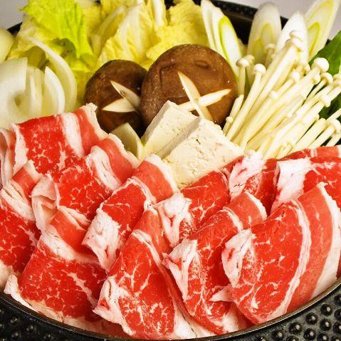 牛すき焼き食べ放題コース2680円