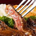 料理メニュー写真特製牛ロースステーキ