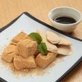 料理メニュー写真わらび餅 ~黒糖アイスをのせて~