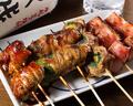 料理メニュー写真肉巻き串5種盛り