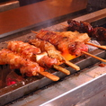 炭火で手焼きをした串盛りは単品料理でもコースでおmお楽しみいただけます!