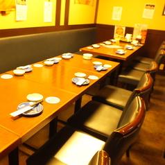 テーブルを全て繋げれば14名様までOK!!福山駅徒歩20秒なので、宴会あとの2次会にもお勧めの立地です。終電を気にせずお愉しみ頂ける点も当店の魅力の1つです。