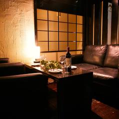 ゆったりソファーの4名様掛け個室のご用意もございます!