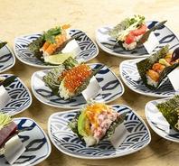 【金山で江戸前寿司を堪能】お寿司盛り合わせ450円~