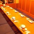 こちらは会社宴会など、大人数でのご利用に利用頂ける掘りごたつ席。最大宴会36名様までOK。お席のスペックはもちろん、料理内容やサービスにも自信ありです。