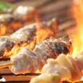 料理メニュー写真地鶏の串焼き盛り合わせ