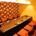 テーブル個室。楽蔵渋谷駅前店では全席完全個室でのご案内です。ちょっとした友人との飲み会や女子会、合コンなどの宴会などにも最適です。完全個室でのご案内ですので他のお客様を気にされることなく宴会や飲み会をお楽しみ頂けます。渋谷での宴会の際には是非ご活用下さい。