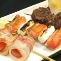 料理メニュー写真串焼き盛り合わせ(四串)