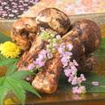 【季節のアラカルト一例】お勧め食材 松茸 ※内容は仕入れによって変わる場合がございます
