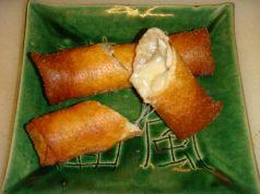 料理メニュー写真あさりクリーム春巻き 2本・ふたくちカツ