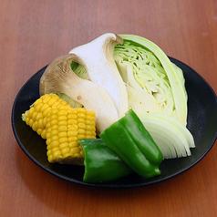焼き野菜いろいろ(野菜もり・ピーマン・玉ネギ・コーン・エリンギ・キャベツ)